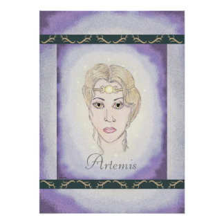 Diosa de la luna de Artemis Póster