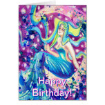 Diosa de la luna de la tarjeta de cumpleaños