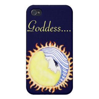 Diosa de la luna iPhone 4 protectores