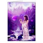 Diosa de la luna tarjeta de felicitación