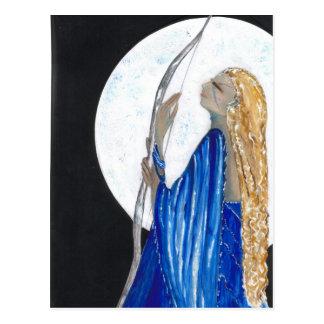 Diosa de la luna postal