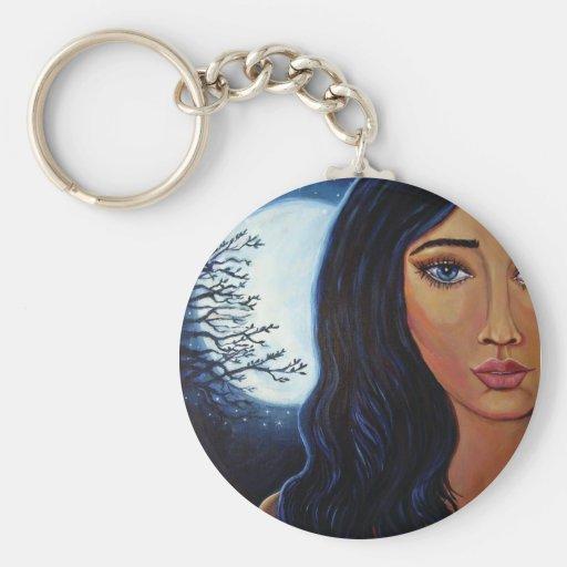 Diosa de la luna y de las estrellas - llavero