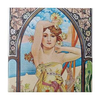 Diosa de la margarita azulejo ceramica