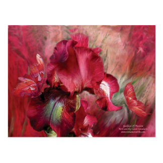 Diosa de la postal del arte de la pasión