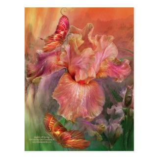 Diosa de la postal del arte de la primavera