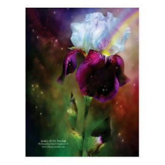 Diosa de la postal del arte del arco iris