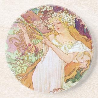 Diosa de la primavera posavasos cerveza
