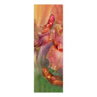 Diosa de la señal del arte de la primavera tarjetas de visita