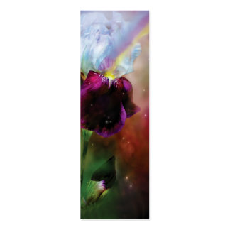 Diosa de la señal del arte del arco iris tarjetas de visita