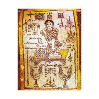 Diosa de la suerte del dinero impresión en tela