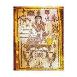 Diosa de la suerte del dinero impresión en lienzo estirada