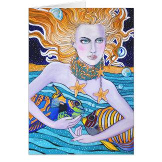 Diosa de la tarjeta de cumpleaños del mar