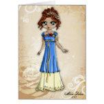 Diosa de la tarjeta de felicitación de la primaver