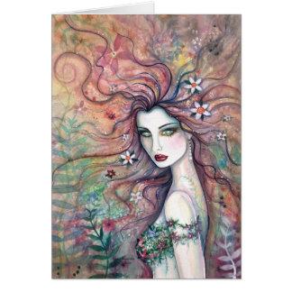 Diosa de la tarjeta de las flores por Molly