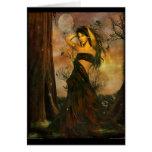 Diosa de la tierra tarjeta de felicitación