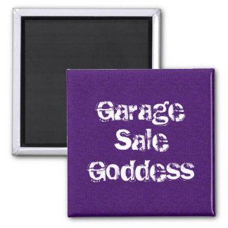 Diosa de la venta de garaje imán cuadrado