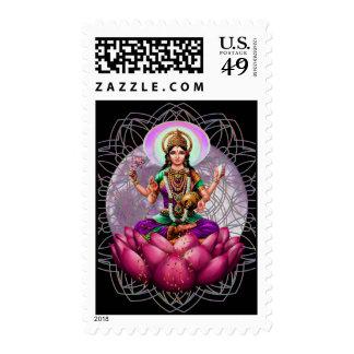 Diosa de Lakshmi del franqueo de la fortuna Estampilla