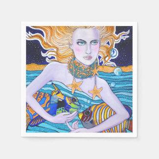 Diosa de las servilletas del mar servilleta de papel