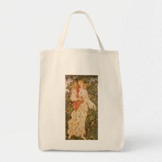 Diosa de los flores y de las flores, flora por bolsa tela para la compra
