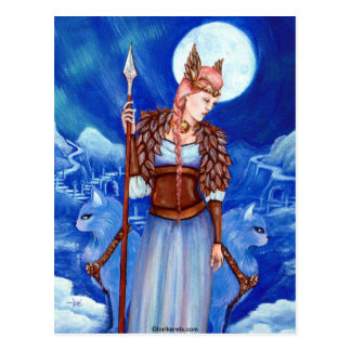 Diosa de los nórdises de Freya Postales