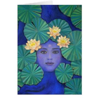 Diosa de Lotus Tarjeta De Felicitación