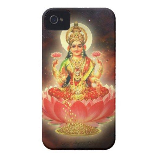 Diosa de Maa Maha Lakshmi Devi Laxmi de la riqueza Case-Mate iPhone 4 Carcasas