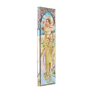 Diosa de Nouveau del arte del vintage Impresiones De Lienzo