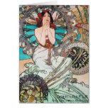 Diosa de Nouveau del arte Felicitacion