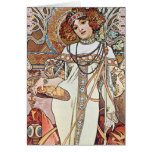 Diosa de Nouveau del arte Tarjeton