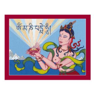 Diosa de ofrecimiento de la TARJETA (Dakini) Postales