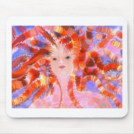 Diosa de Oracle del fuego Alfombrillas De Ratón