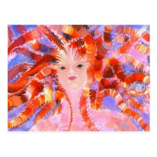 Diosa de Oracle del fuego Tarjetas Postales