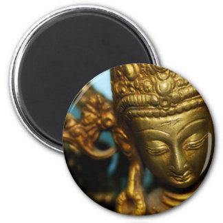 Diosa de oro imán redondo 5 cm