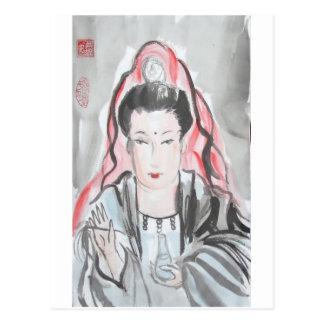 Diosa de Quan Yin de la compasión Postales