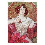 Diosa de rubíes del rosa rojo tarjetas