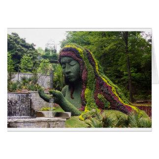 Diosa de tierra tarjeta de felicitación