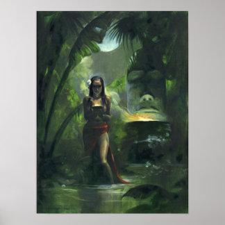 Diosa de Tiki Posters
