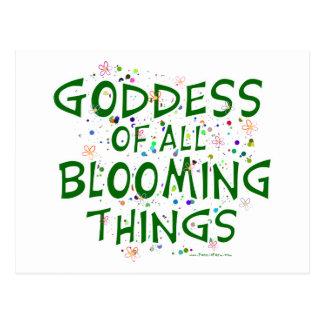 Diosa de todas las cosas florecientes postales