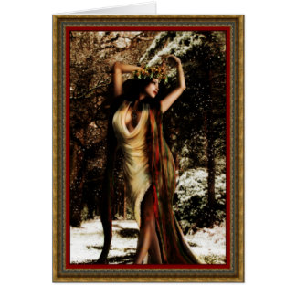 Diosa del acebo de Yule Tarjeta