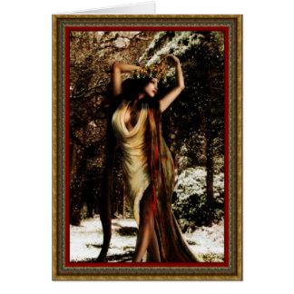 Diosa del acebo de Yule Tarjeta De Felicitación
