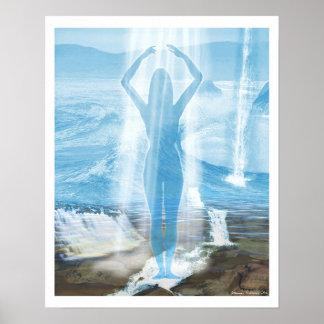 Diosa del agua póster