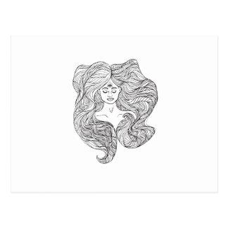 Diosa del amor y de la luz postal