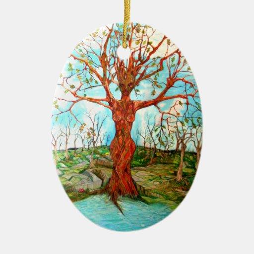 Diosa del árbol adornos