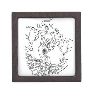 Diosa del árbol caja de joyas de calidad