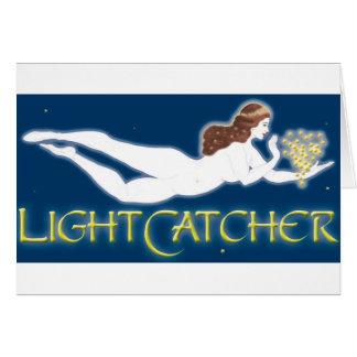 Diosa del blanco de LightCatcher Tarjeta De Felicitación