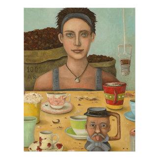Diosa del café membretes personalizados