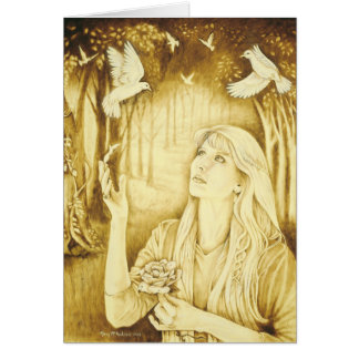 Diosa del Celtic de Etain Tarjeta De Felicitación