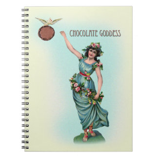 Diosa del chocolate griega libros de apuntes con espiral