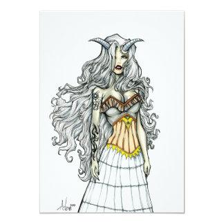 Diosa del Demoness Invitación 12,7 X 17,8 Cm