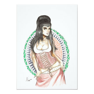 Diosa del destino invitación 12,7 x 17,8 cm